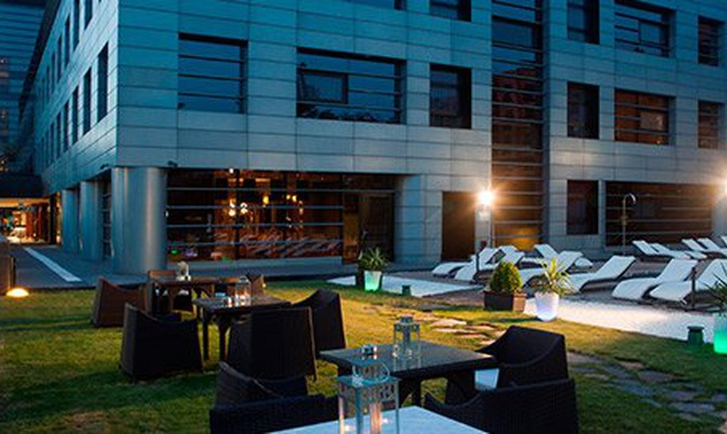 CHILL-OUT-GARTEN Nuevo Boston Hotel Madrid-Flughafens